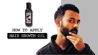 BEARDO : How To Apply Hair Growth Oil