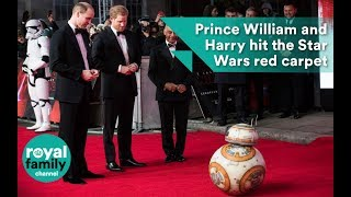 Prince William and Harry hit the Star Wars red carpet