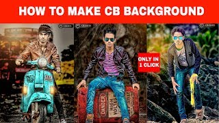Make Cb Background in 1 Click || Cb editing || Picsart editing tutorial