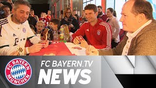 Fan club visits for Thomas Müller and all the Bayern stars