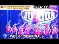 Junior New System HEAD LANDING FLIPS 100% BEST PERFORMANCE Semifinals America's Got Talent 2018 AGT
