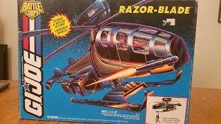 HCc788 - 1994 RAZOR-BLADE unboxing and assembly! Vintage G.I. Joe toy!