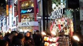 koay jess jo Night Shopping Myeongdong Korea