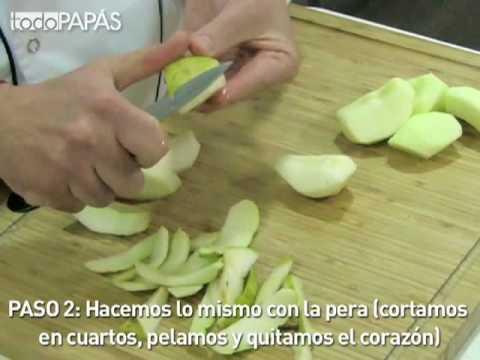 Papilla Rápida de Pera y Manzana - Recetas fáciles para bebés y niños