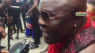 Bukom Banku consoles Ebony's parents at her funeral
