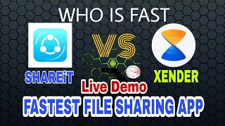 SHAREit Vs Xender File Sharing App Who Is Best ? Live Demo