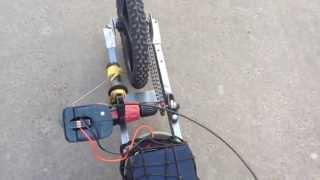 Drill powered 5wheels Skateboard First run