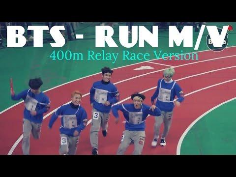 BTS - RUN M/V 400m Relay Race Version (On Crack? lol)