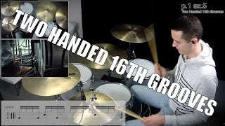 Daily Drum Lesson - Two Handed 16th Grooves