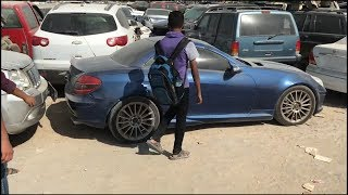 Abandoned cars in Dubai (found a Nissan gtr skyline,mustang,corvette and a xk8)vlog#1