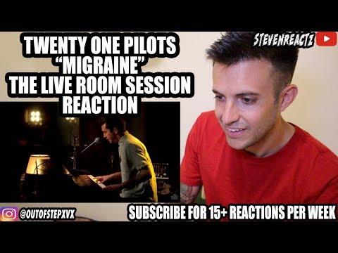 """twenty one pilots - """"Migraine"""" captured in The Live Room REACTION"""