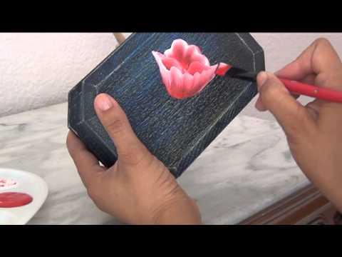 Como Pintar Flores Clase Gratis Técnica Arcoiris 2 PARTE