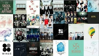 Total ALBUM release by BTS details with ALBUM ART [2013 to 2018]