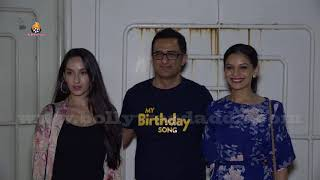 Nora Fatehi, Sameer Soni, Keith Sequeira Screening Of Movie My Birthday Song At Sunny Super Sound