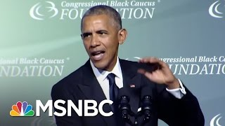 Obama Mocks Trump For Birther Conspiracy | PoliticsNation | MSNBC