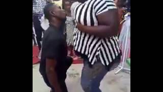 Man goes CRAZY for lady's BREAST while dancing
