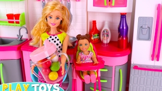 Barbie Baby Doll Mini Mart Cash Register! 🎀 Play Doll Feeding Slime, Splash Bath Time, Bedtime!