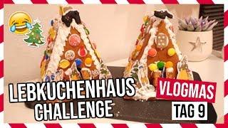LEBKUCHENHAUS-CHALLENGE MIT MEINER MUTTER!😅🎄 | Vlogmas Tag 9 | Vanessa Nicole