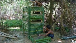 Primitive Technology  Make Bed Shed   Double-storey House Finding Groundwater