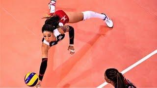 Brenda Castillo Amazing Volleyball Libero | TOP MOMENTS | World Grand Prix 2017