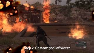 MGS5: Mission 20 - How to Kill Man on Fire FAST (Voices - Phantom Pain)