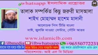 Sheikh Mohammad Hashem Madani  তালাক সম্পর্কিত কিছু জরুরী মাসআলা।