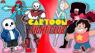 UNDERTALE vs STEVEN UNIVERSE! (Sans, Papyrus, Undyne VS Pearl, Garnet, Steven)   CARTOON FIGHT CLUB