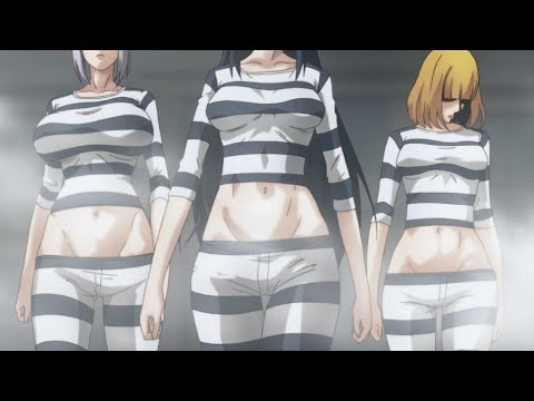 Prison School Anime Meiko & Hana & Mari Ryona Going To Prison