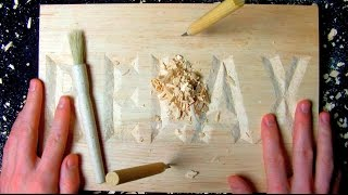 ASMR wood carving