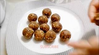 Date and Nuts Energy Balls.  Healthy Sweets