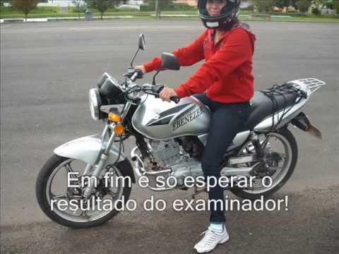 exame de moto castro