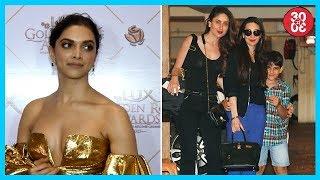 Deepika Skips Red Carpet Due To Security Reasons | Kareena, Karisma Spotted Outside Their Apartment