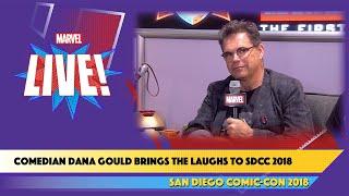 Comedian Dana Gouldtalks comics and movies at SDCC 2018