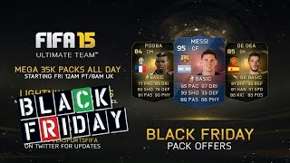 تفجير بكجات - البلاك فرايدي - الحظ مجنون || Fifa15 Black friday packs