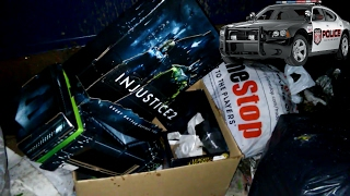 ALMOST CAUGHT!!! Gamestop Dumpster Dive Night #230 + Giveaway