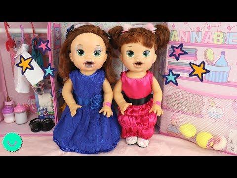 Xxx Mp4 Muñecas Baby Alive Visten De PRINCESAS 🎀Gemelas SARA Y SARITA En BB Juguetes 3gp Sex