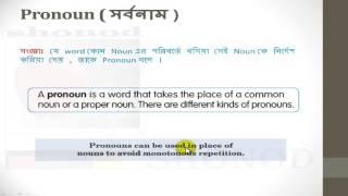 English Grammar in Bangla - Pronoun