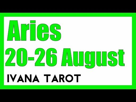 ❤️ GOOD OLD  FRIEND Aries Weekly Tarot Reading 20 -26 August 2018
