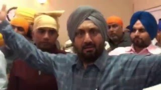 Sangat Protests Sarbjit Singh Dhunda | Peaceful Protest Leads To Chaos @ Fairfield California