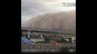 الفيديو يسجل لحظة العاصفة الرملية في مقاطعة تشينغهاي|CCTV Arabic