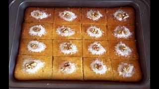 "کیک ترکی( ریوانی) ❤ cake ""Revani"