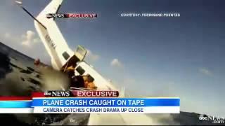 Uçağın Düşüş anını kameraya aldı.