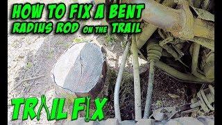 Trail Fix - How to Repair a Bent Rear Radius Rod - Polaris RZR XP Turbo - Episode 003