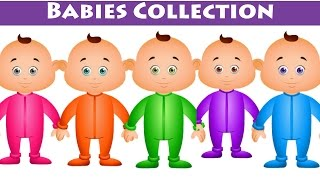 Five Little Babies And Many More - Nursery Rhymes Collection Vol 1 - JamJammies Kids Songs