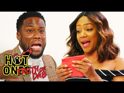Kevin Hart and Tiffany Haddish Play Truth or Dab Hot Ones