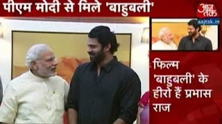 PM Modi Meets 'Bahubali' Lead Actor, Prabhas
