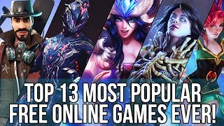 Top 13 Most Played & Popular Free Online Games EVER