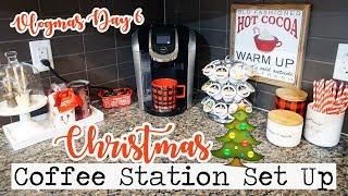MY CHRISTMAS COFFEE STATION SET UP!    Vlogmas Day 6