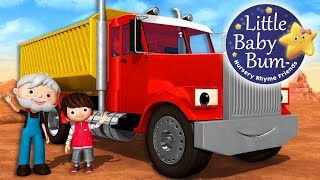 Song About Trucks | Nursery Rhymes | Original Songs By LittleBabyBum!