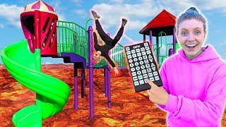 LAST to FALL into floor is LAVA WINS $10,000! (Pause Challenge Remote Controls our Life)
